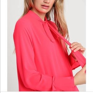 Banana Republic Tops - NWT banana republic hot pink silk blouse